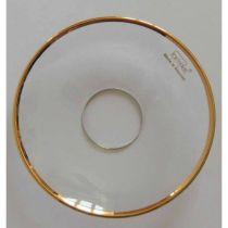 Glasmanschett med guldkant