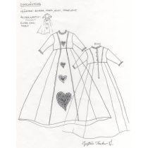 Dopklänningsmönster Hjärtan